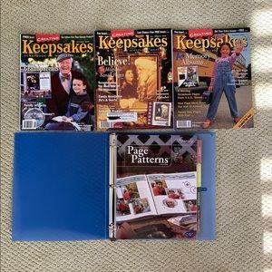 CM Page Patterns binder & Keepsakes mags